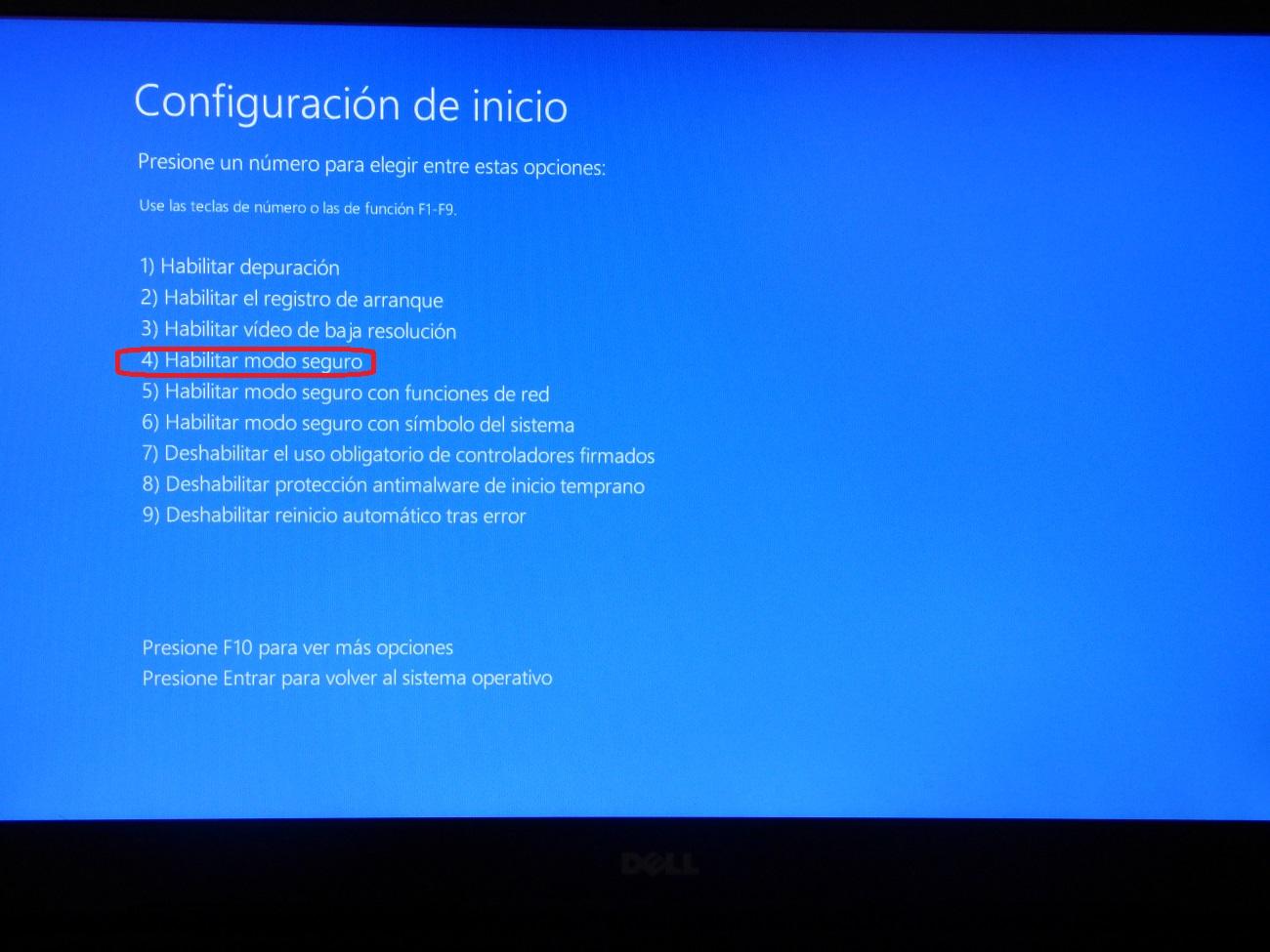 Como iniciar Windows 10 en modo seguro y para que sirve 6