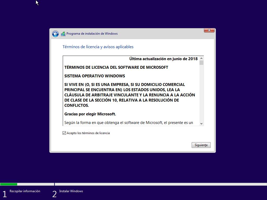 Como instalar Windows 10 paso a paso 7