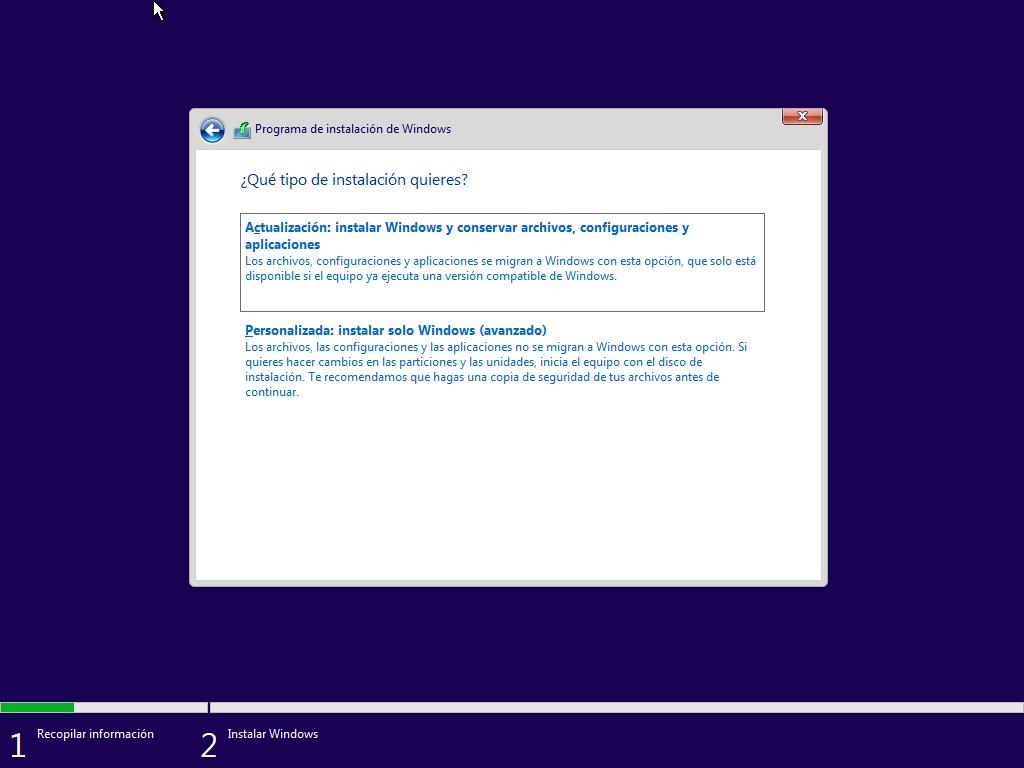 Como instalar Windows 10 paso a paso 8