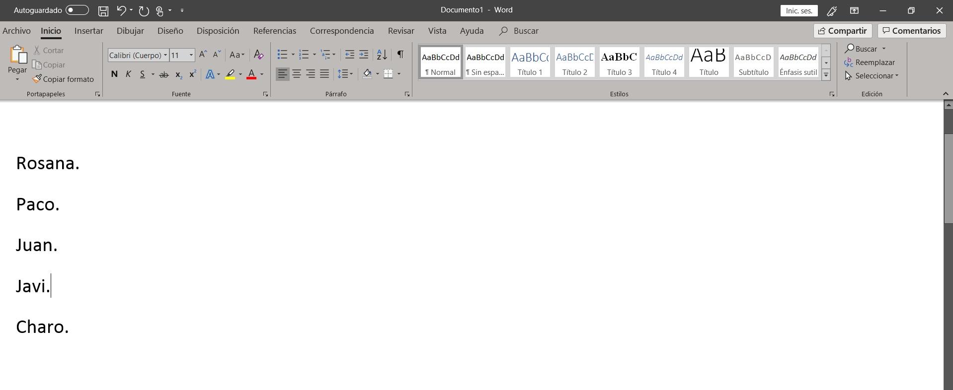 Como ordenar alfabéticamente en Word 004