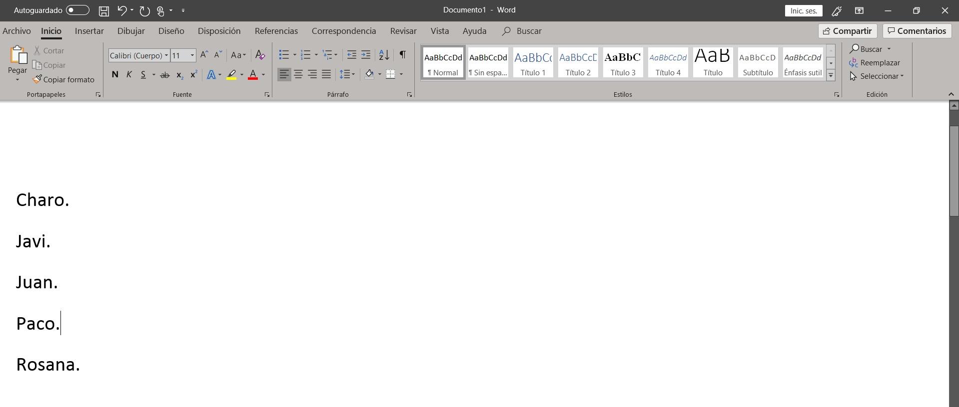 Como ordenar alfabéticamente en Word 3