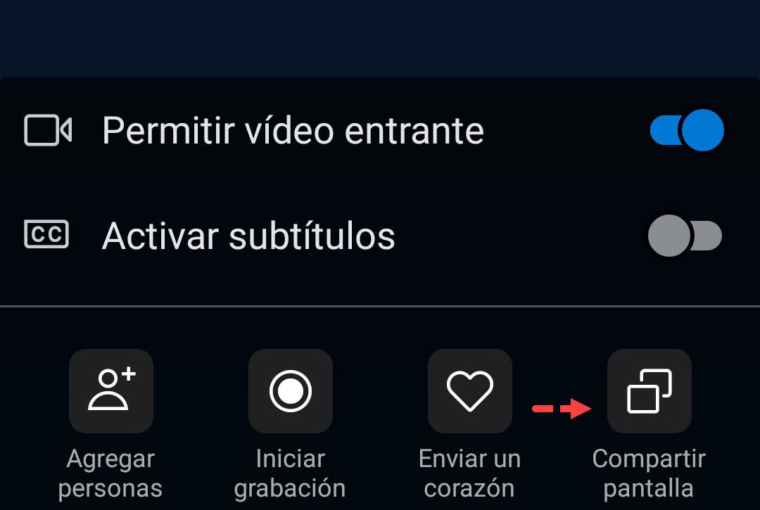 Compartir pantalla Android