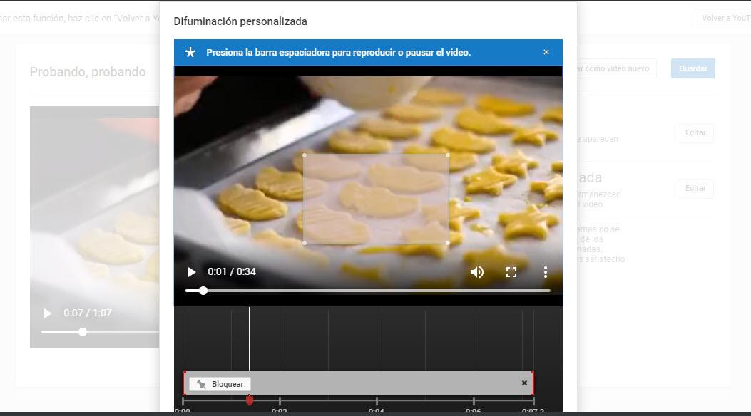 difuminación personalizada YouTube