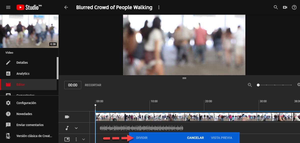 cortar video YouTube
