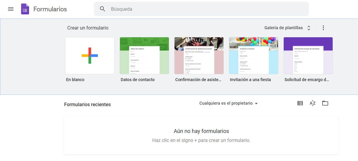 Formularios apps