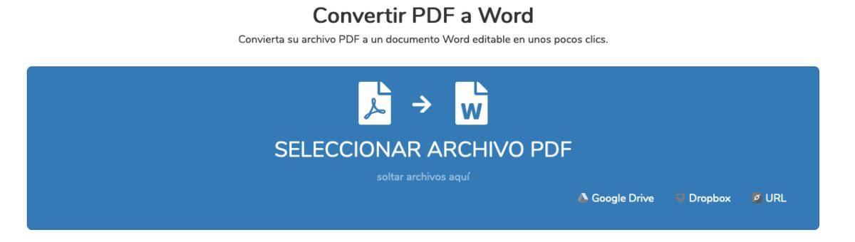 PDF converter herramienta online