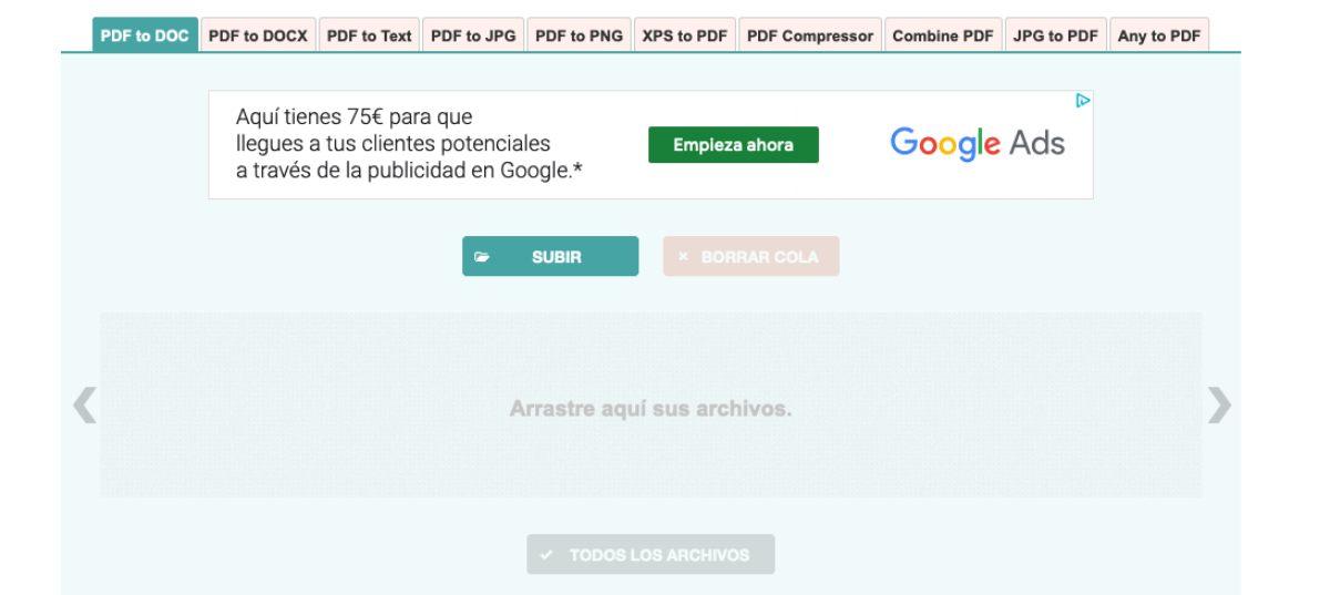 PDF-to-DOC herramienta online