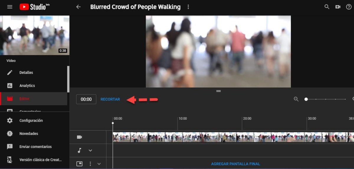 Recortar vídeos YouTube