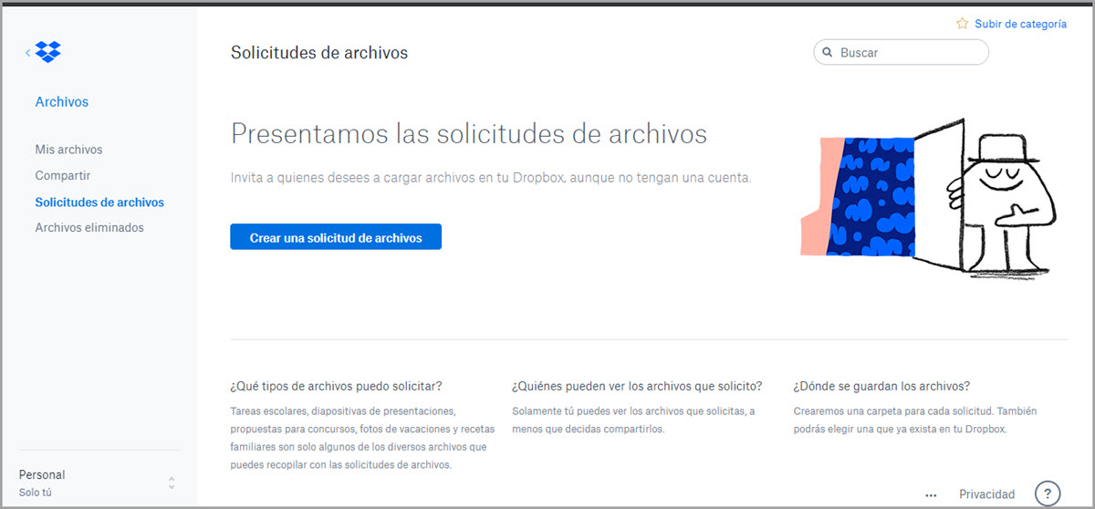 Solicitud de archivos