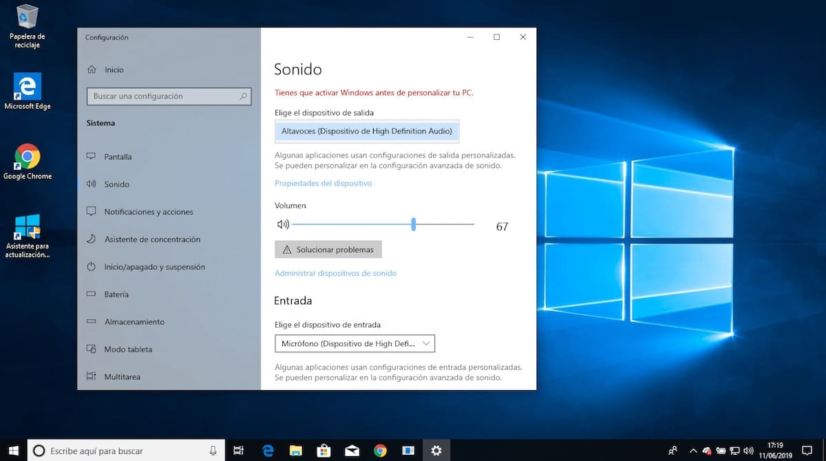 windows 10 sin sonido de repente 1