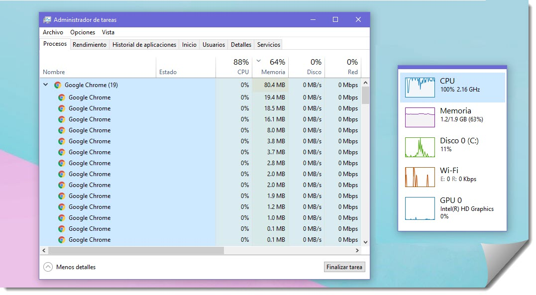 Cómo monitorizar el rendimiento de Windows 10 2