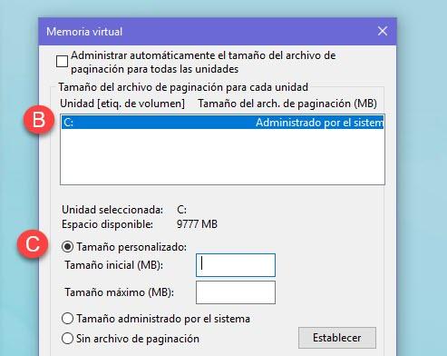 Cómo aumentar la memoria virtual en Windows 10 4
