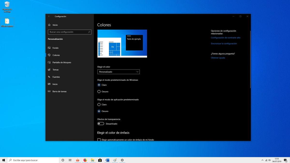 Cómo activar el nuevo tema claro de Windows 10 3
