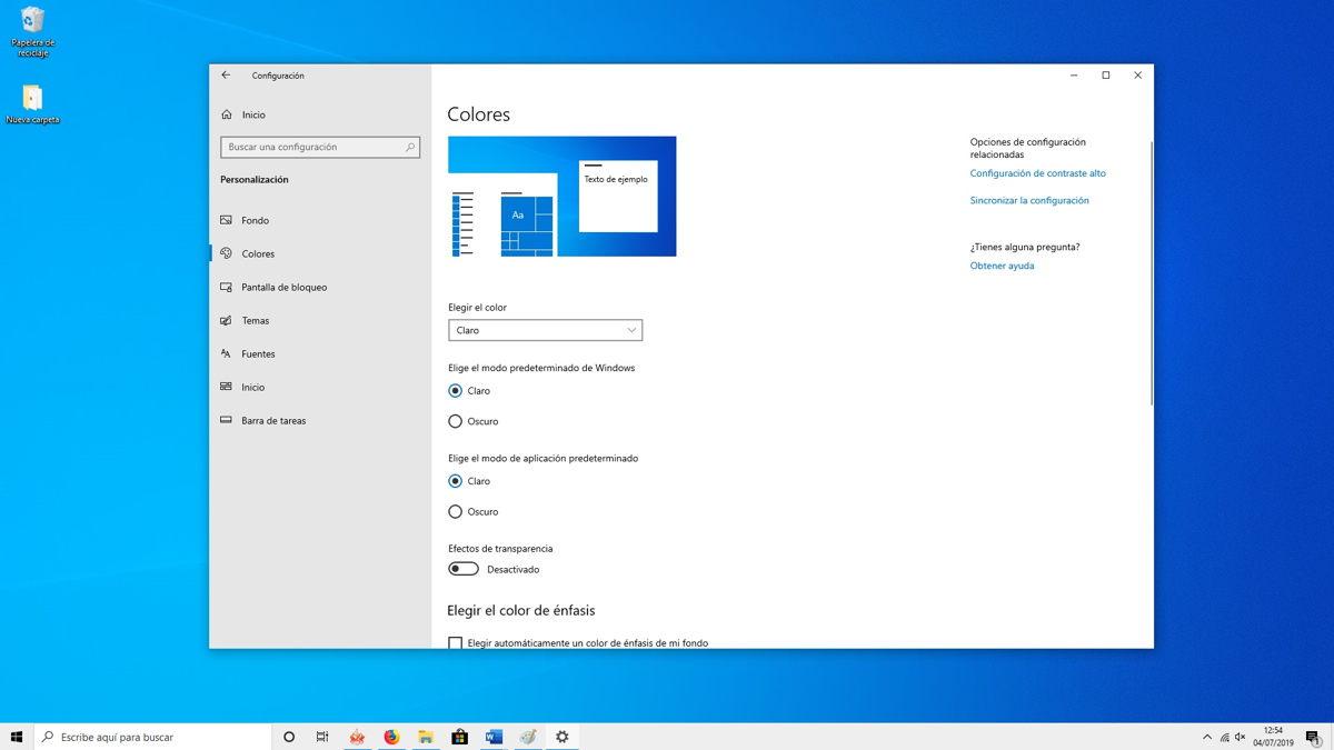 Cómo activar el nuevo tema claro de Windows 10 4