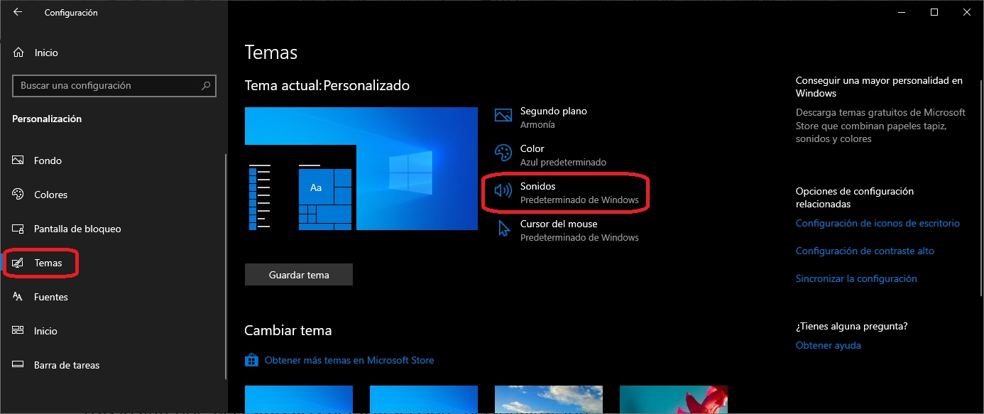 Como desactivar los sonidos de Windows 10 3