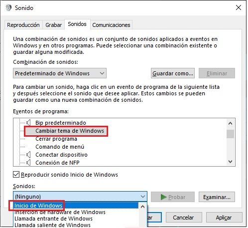 Cómo desactivar los sonidos de Windows 10 5