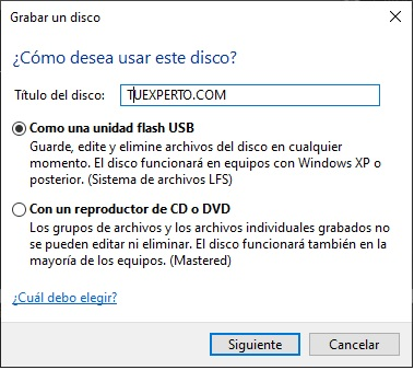 Como grabar un DVD en Windows 10 paso a paso 2