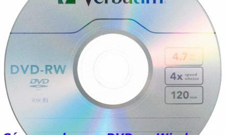 Cómo grabar un DVD en Windows 10 y usarlo como un pendrive