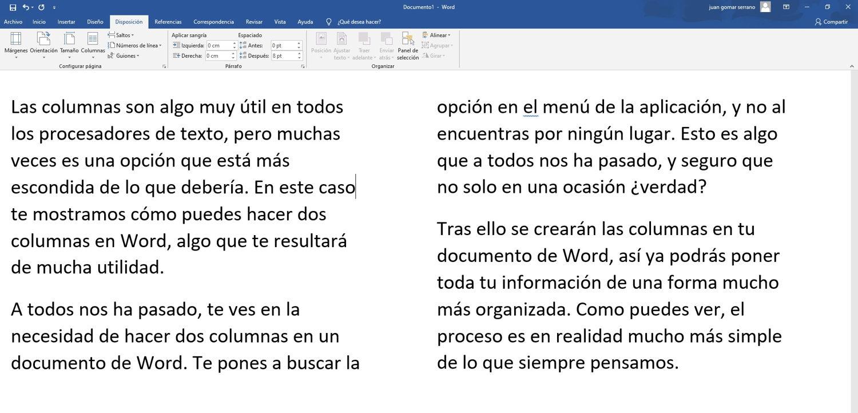 Como hacer 2 columnas en Word 02