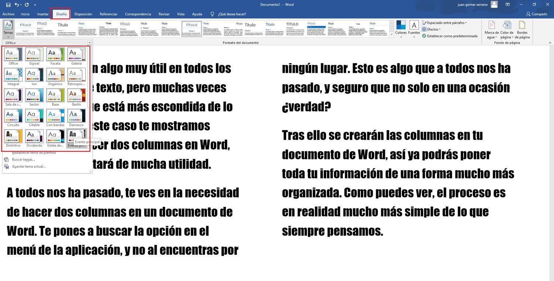 Como hacer 2 columnas en Word 3