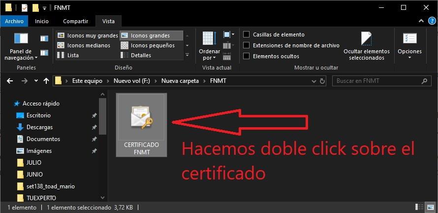 Cómo instalar certificados digitales en Windows 10 1