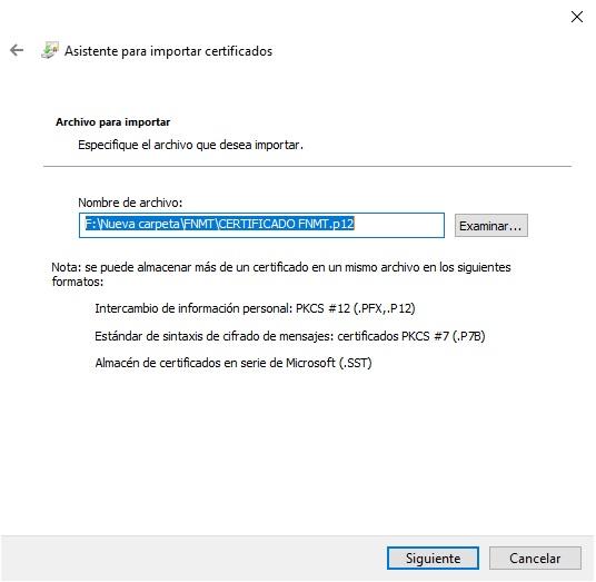 Cómo instalar certificados digitales en Windows 10 3
