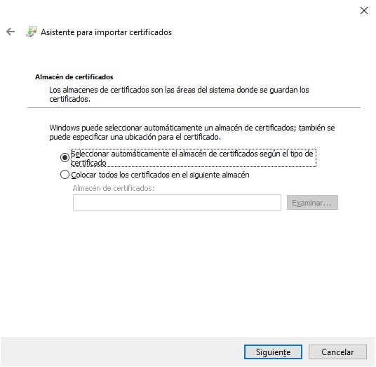 Como instalar certificados digitales en Windows 10 5