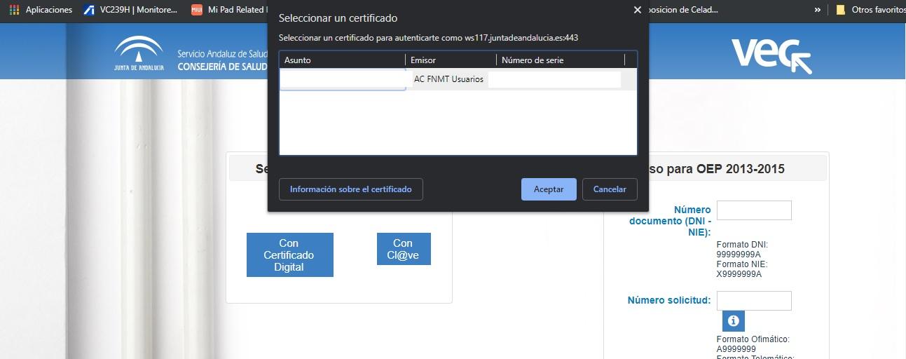 Como instalar certificados digitales en Windows 10 9