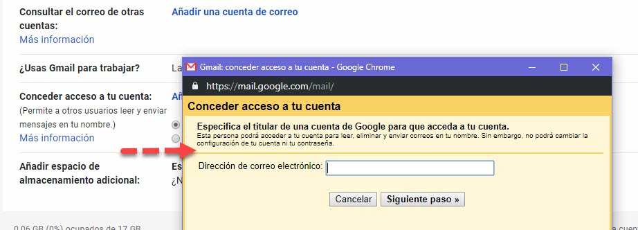 Cómo crear cuentas compartidas en Gmail 3