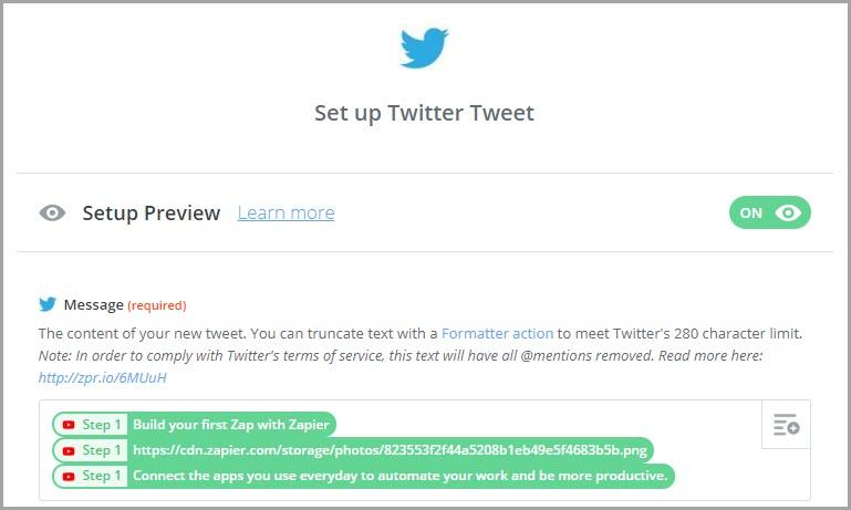Configurar tweet