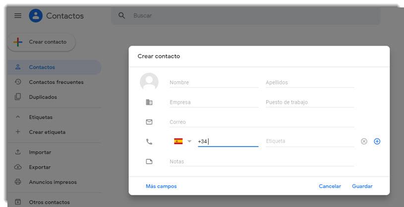 Cómo crear grupos de contactos en Gmail 5