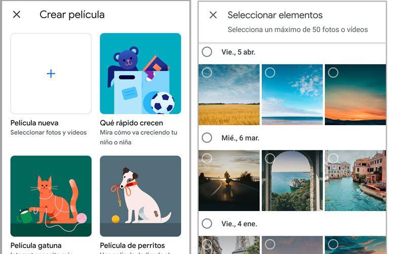 Cómo crear películas con Google Fotos 4