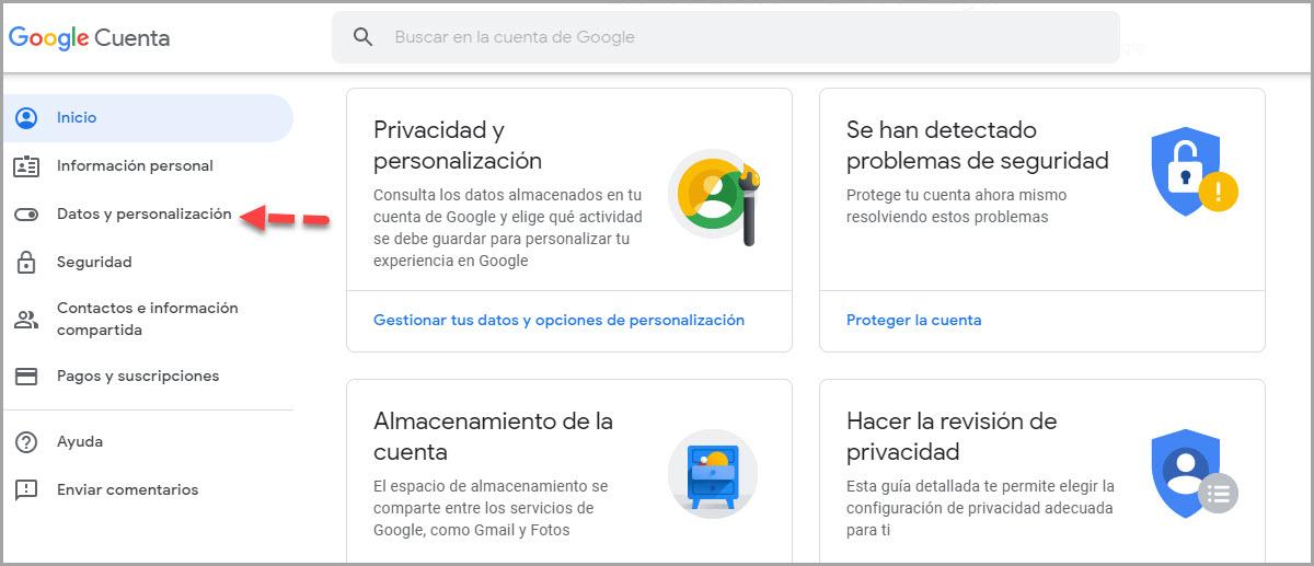 Cómo eliminar el historial de búsqueda de Google 2