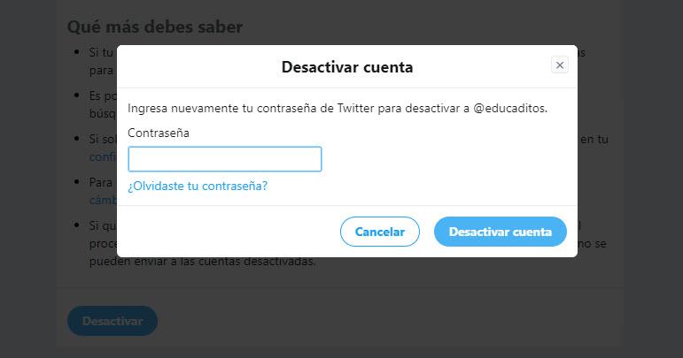 Cómo eliminar una cuenta de Twitter 3