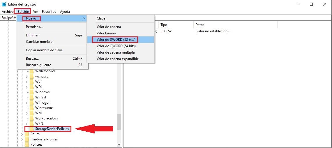 desactivar la protección contra la escritura en Windows 10 05