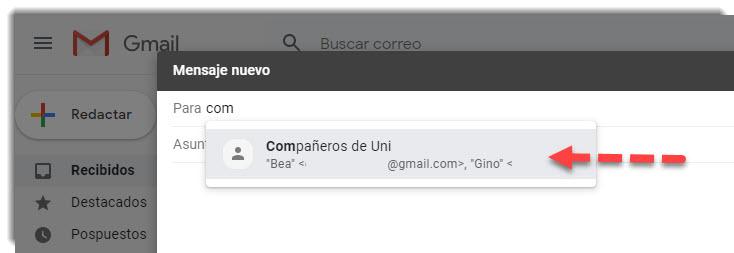 Cómo crear grupos de contactos en Gmail 4