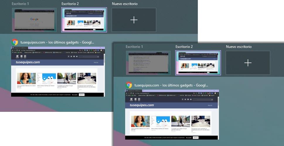 Cómo utilizar los escritorios virtuales en Windows 10