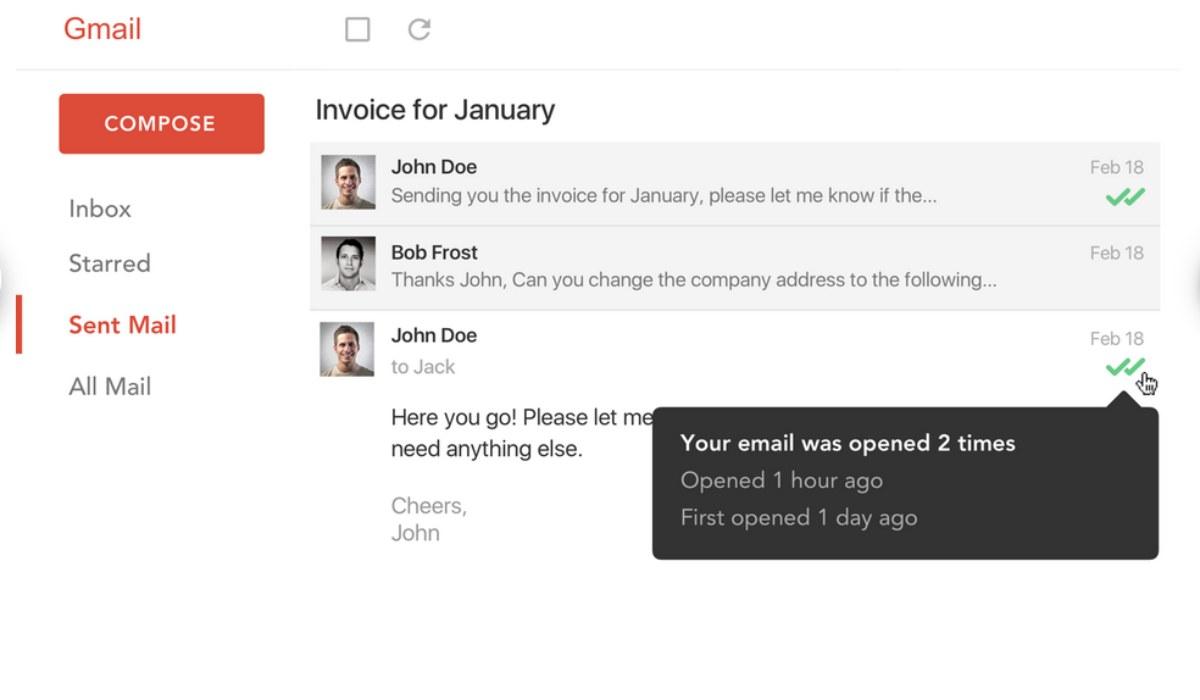Mailtrack Extensión de Gmail