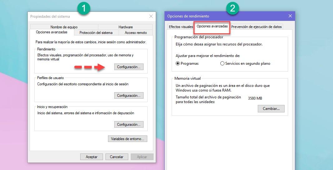 Cómo aumentar la memoria virtual en Windows 10 2