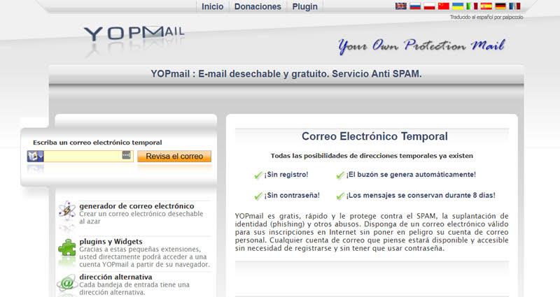 5 servicios de correos electrónicos temporales 1