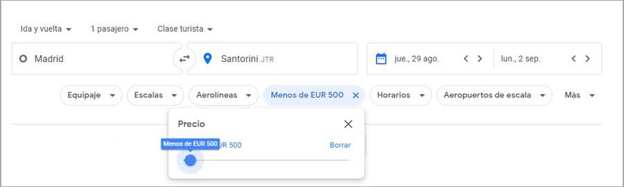 Cómo buscar los vuelos y hoteles más baratos en Google 2