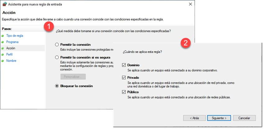 Cómo bloquear el acceso a Internet a un programa en Windows 10 7