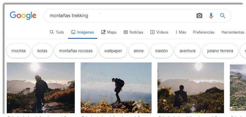 Cómo buscar imágenes sin derechos de autor en Google 2