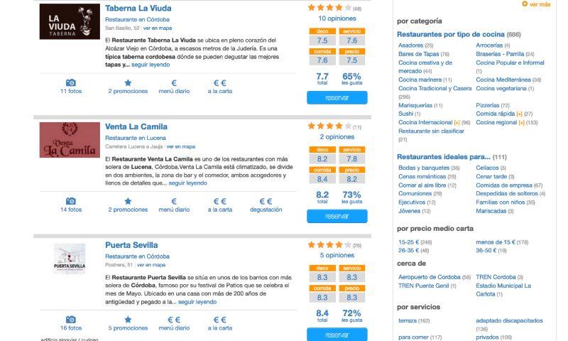 Web Buscorestaurantes