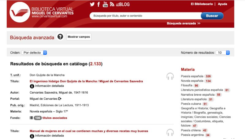 Audiolibros Cervantes virtual