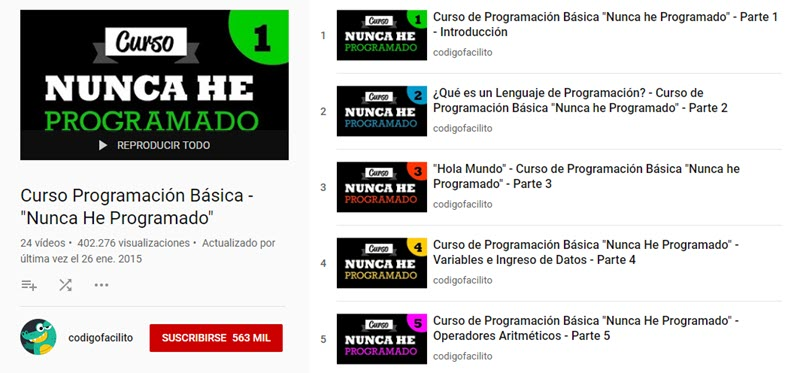 10 canales de YouTube para aprender programación 7