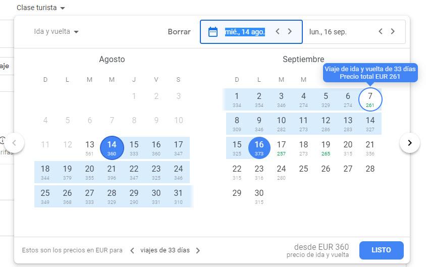 Cómo buscar los vuelos y hoteles más baratos en Google 6