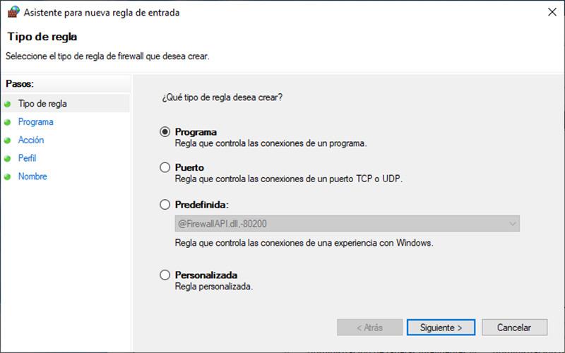 Cómo bloquear el acceso a Internet a un programa en Windows 10 5