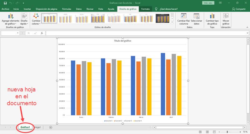 Cómo crear gráficos en Excel 5