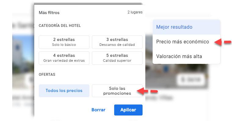 Cómo buscar los vuelos y hoteles más baratos en Google 7